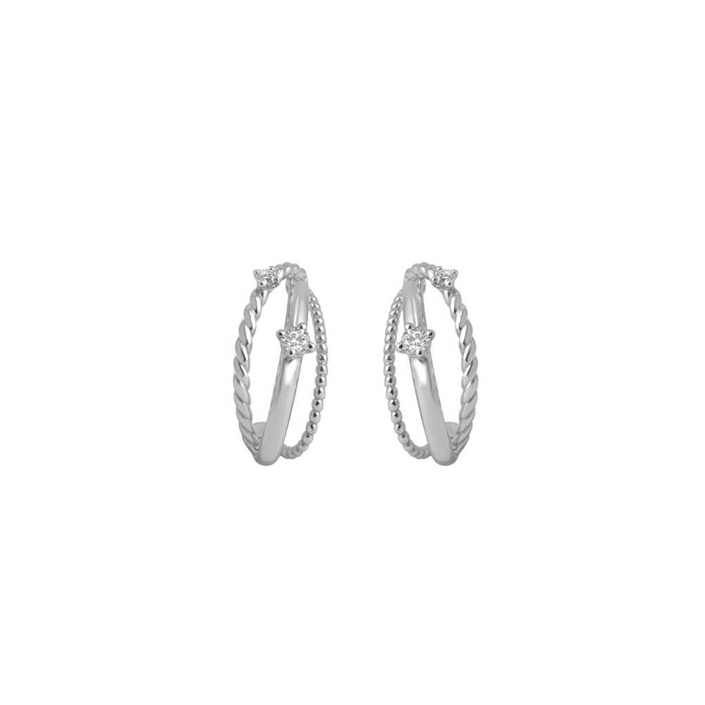 White gold earrings with 0,24 ct diamonds