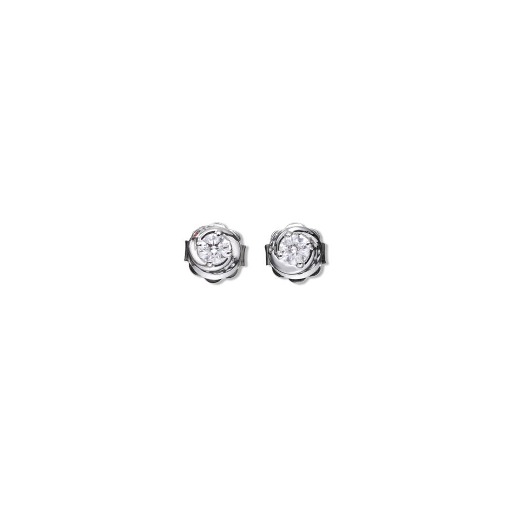 18 kt white gold classic 0,60 ct diamond earrings