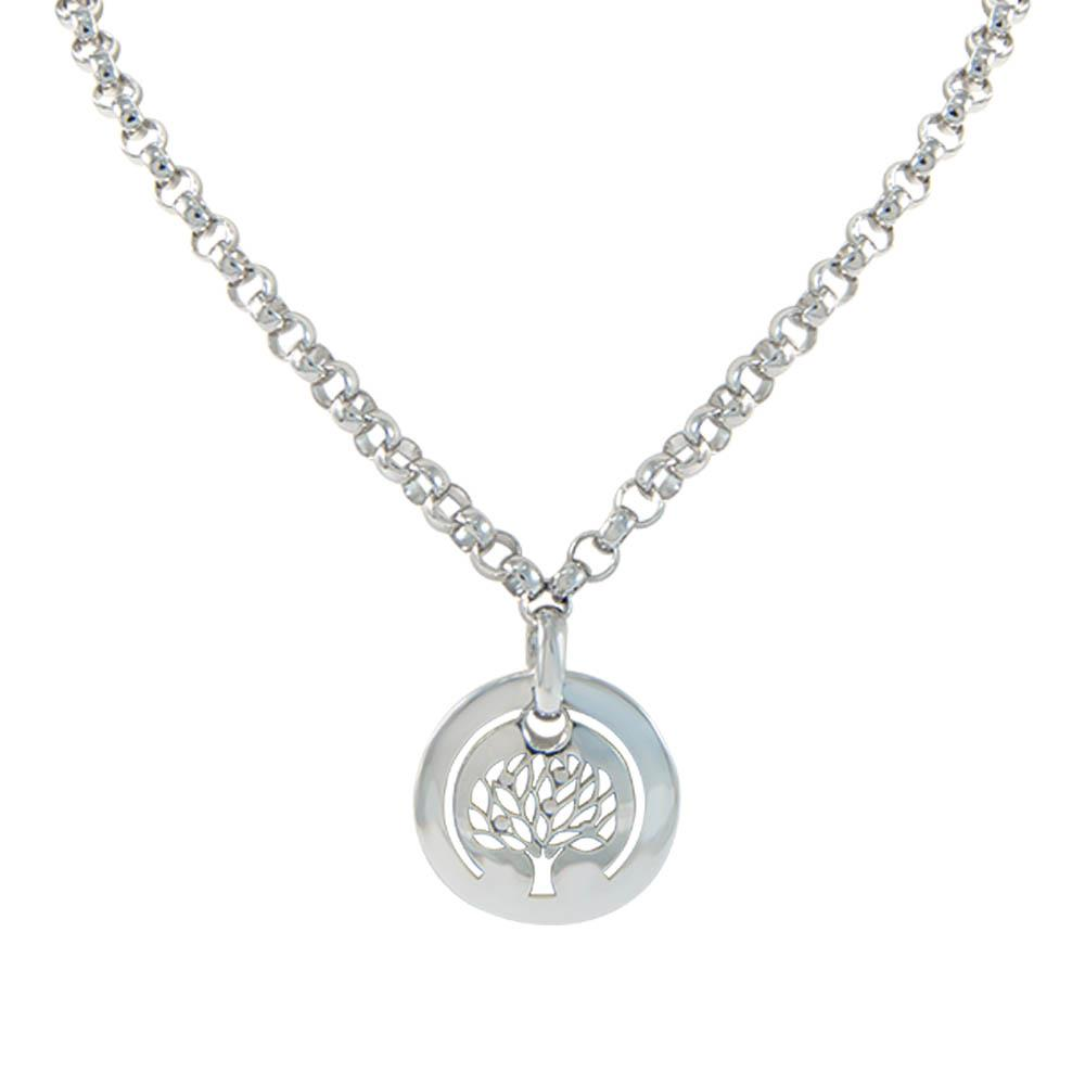 Sterling silver NECKLACE WITH ALFIERI'S  LOGO