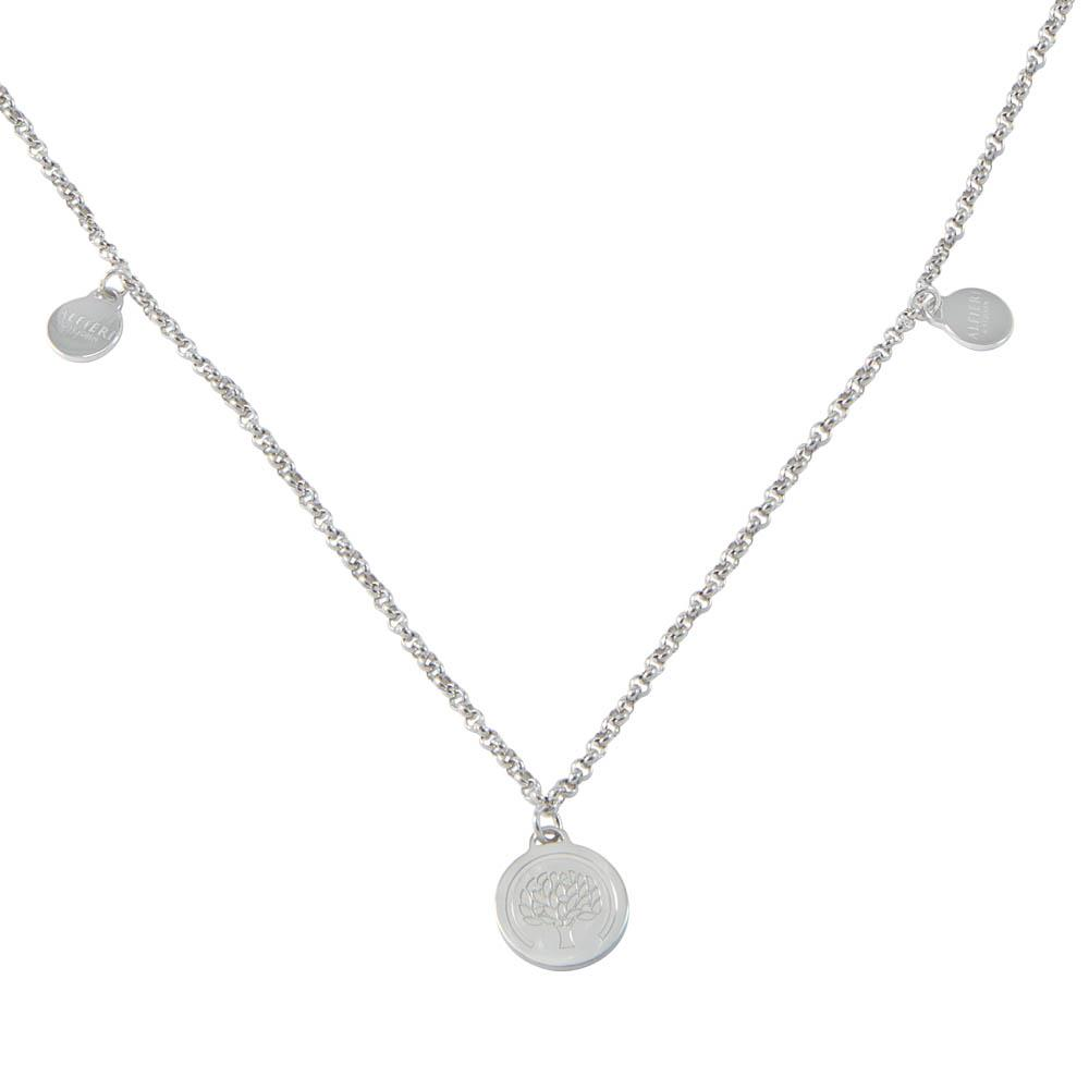 Sterling silver long necklace with Alfieri's charms