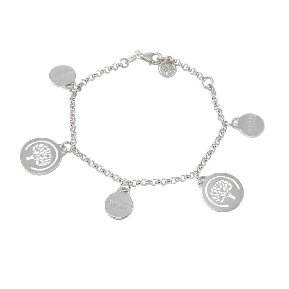 Sterling silver bracelet with Alfieri's  charms