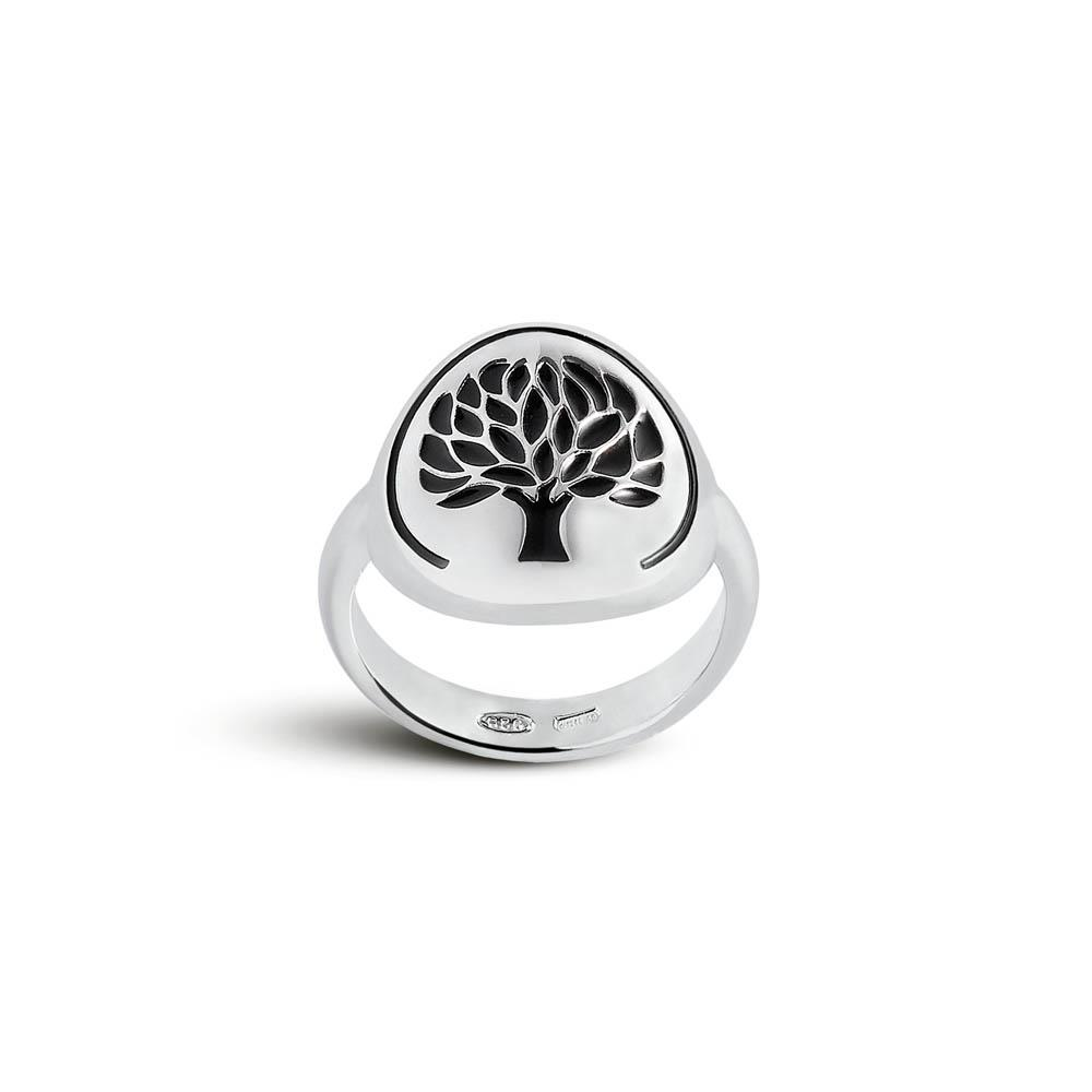 STERLING SILVER RING WITH TREE OF LIFE LOGO SIZE 14