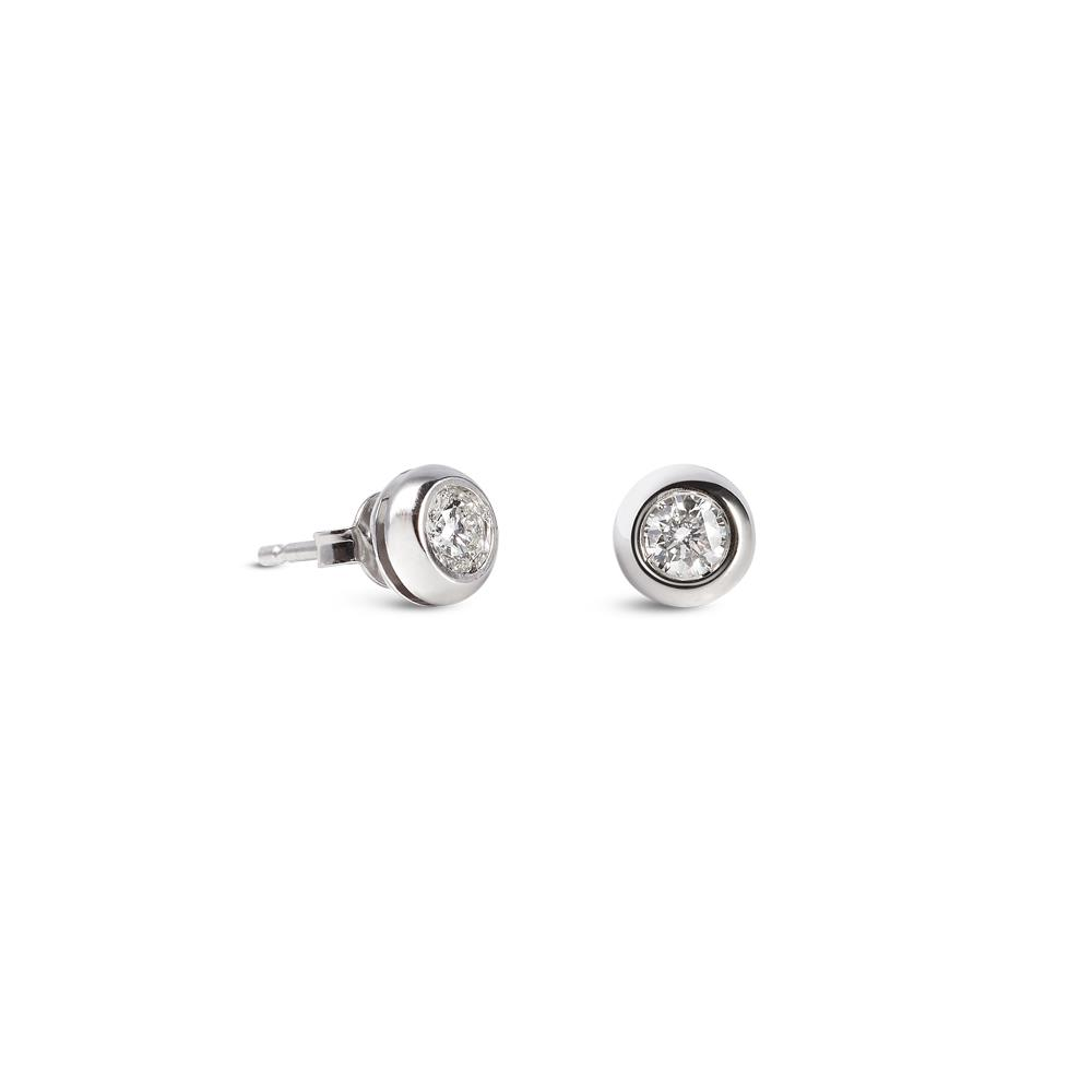 White gold diamond earrings 0.40 ct