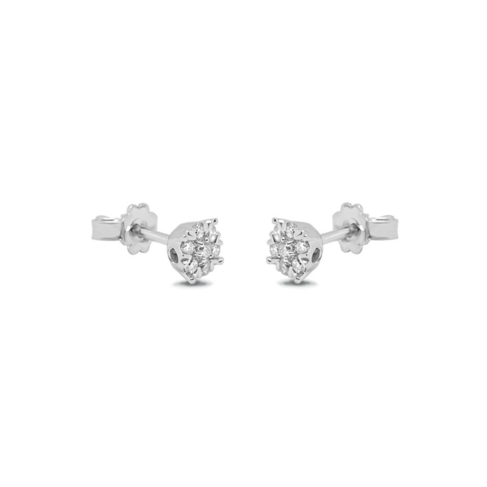 pendientes en oro blanco con diamantes montura invisible ct 0,50 Disponible en varios quilates