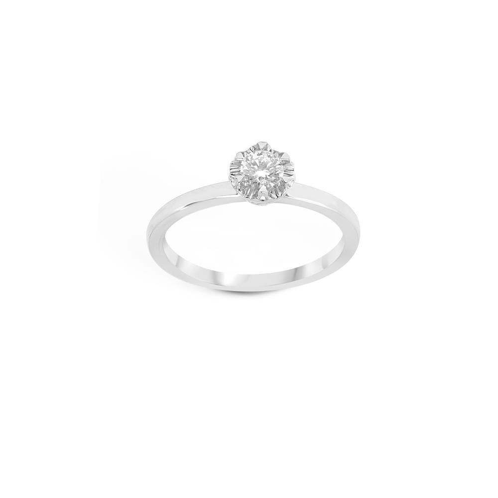 Anello solitario con diamante montatura a_mazing ct 0,40