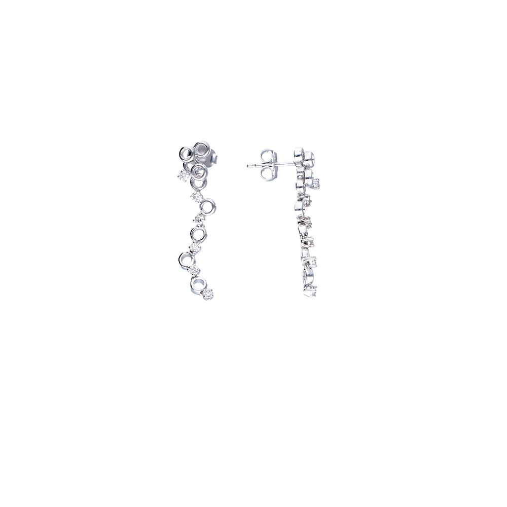 White gold earrings with 0,42 ct diamonds Lenght: 3,20 cm