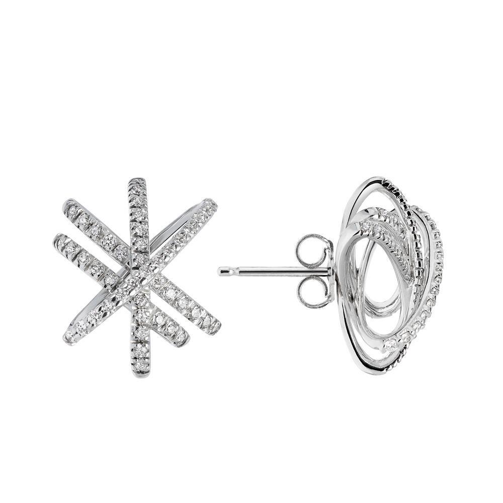 White gold earrings with 0.96 ct diamonds
