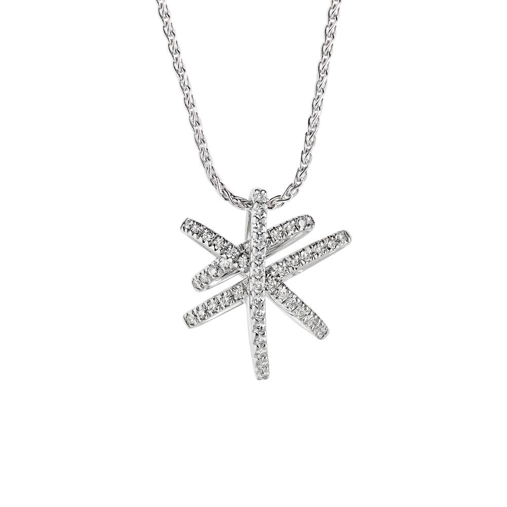 White gold pendant with 0.56 ct diamonds Chain lenght: 42/45 cm
