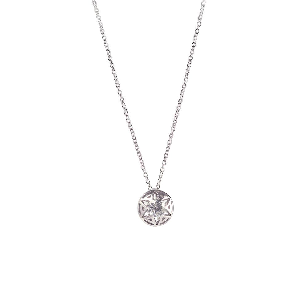 18 kt white gold pendant with diamonds ct 0.30, «A» detail