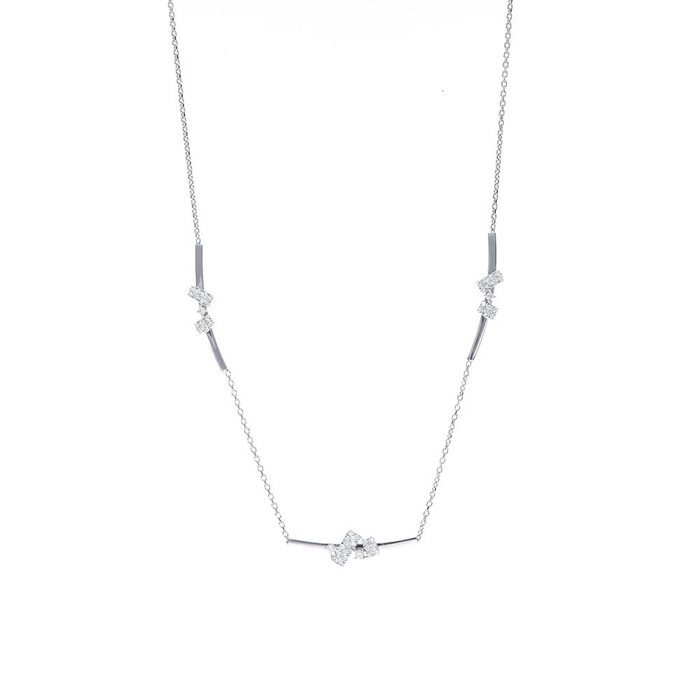 White gold necklace with diamonds 0,35 ct