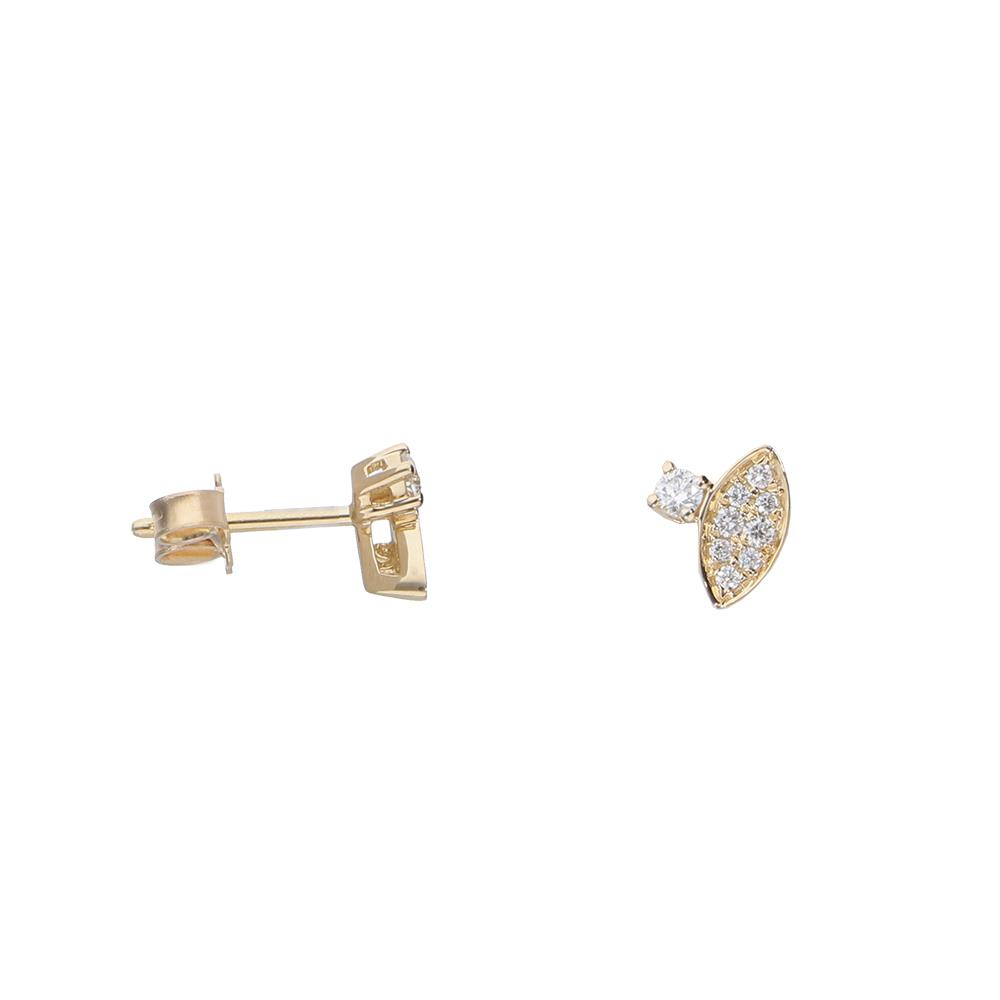 Pendientes de oro amarillo y diamantes 0,20 ct
