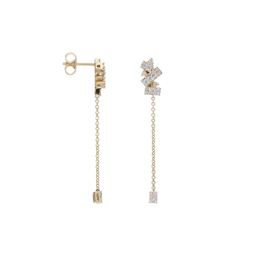 Pendientes de oro amarillo y diamantes 0,50 ct