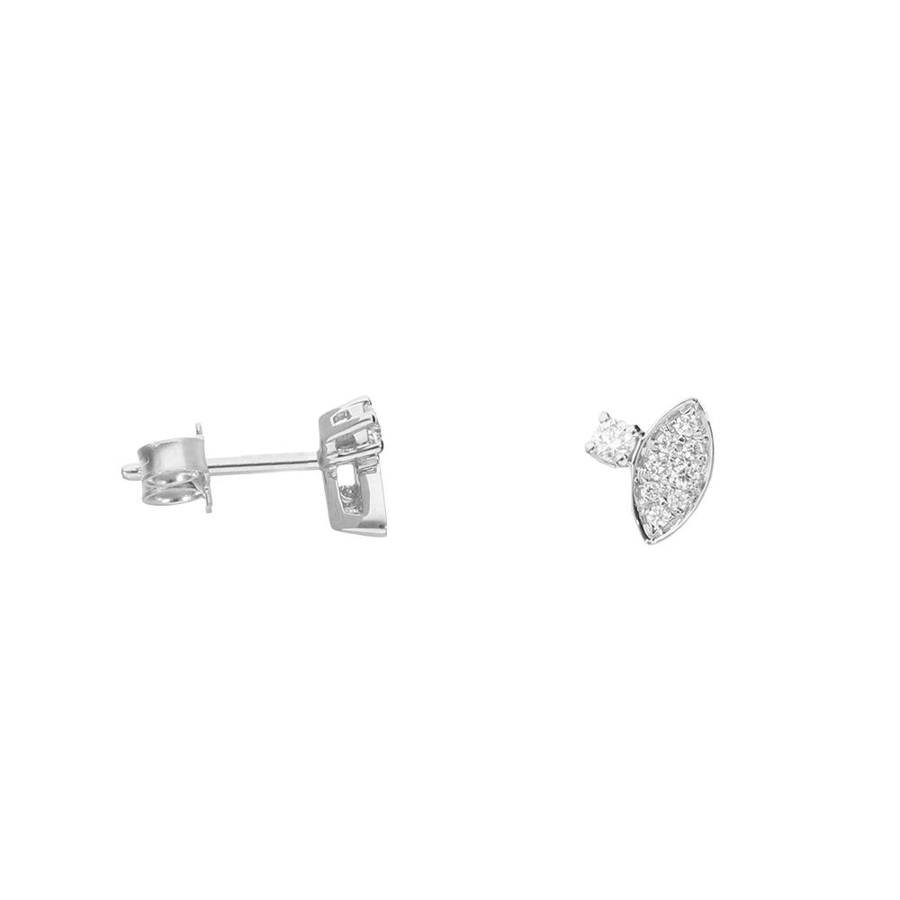 Pendientes en oro blanco y diamantes 0,20 ct.