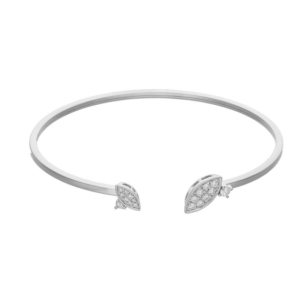 Bracciale in oro bianco e diamanti 0,30 ct