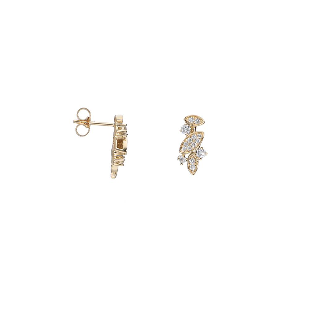 Pendientes de oro amarillo y diamantes 0,35 ct