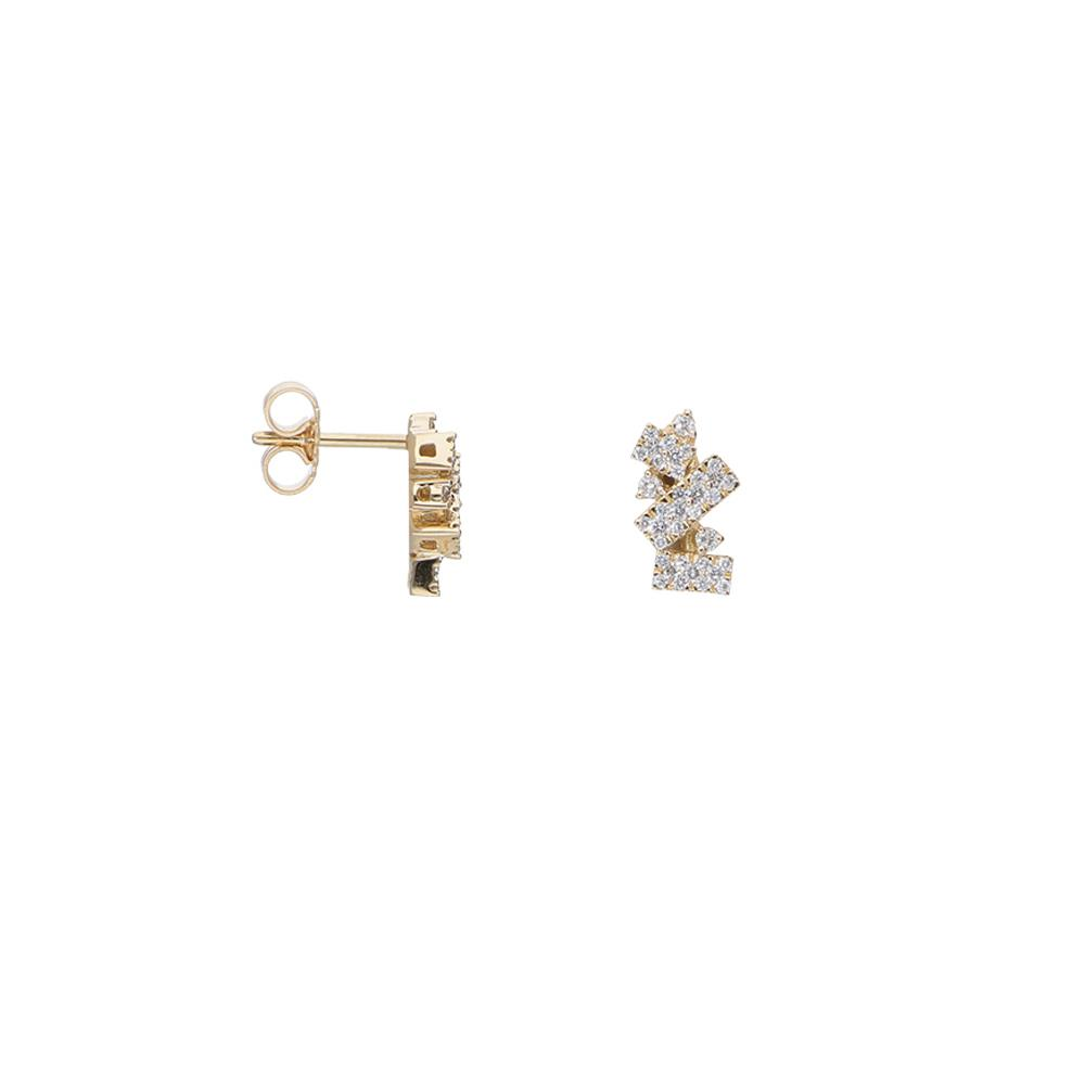 Pendientes de oro amarillo y diamantes 0,40 ct