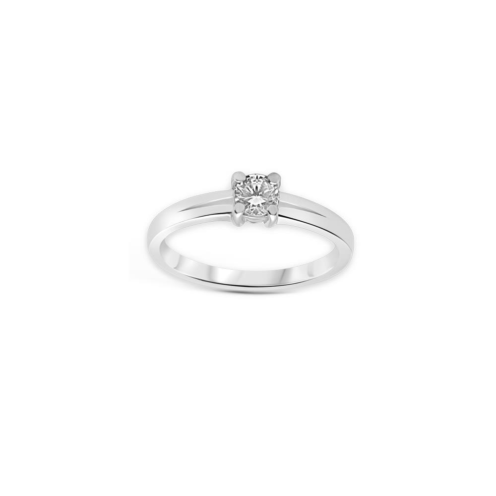 Four griffes solitaire diamond ring set in white gold ct 0.40 Available in different weighing in carats