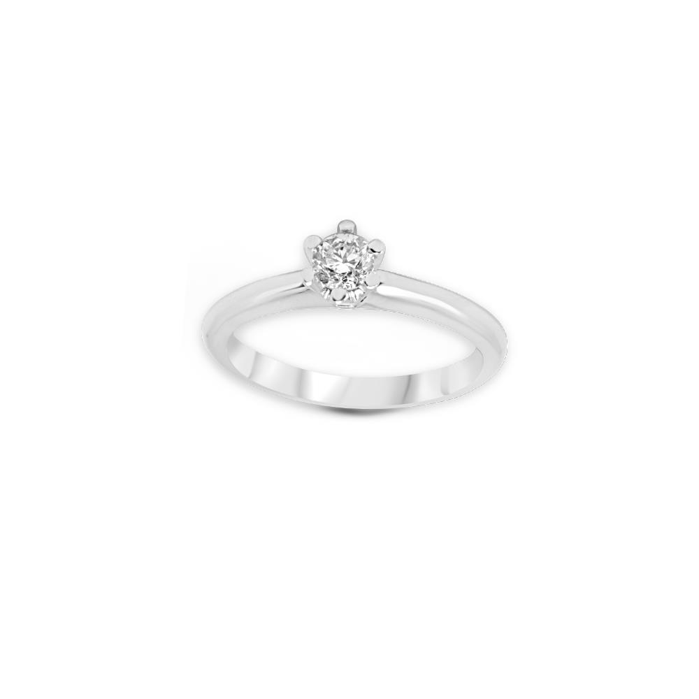 Six griffes solitaire diamond ring set in white gold ct 0.40 Available in different weighing in carats