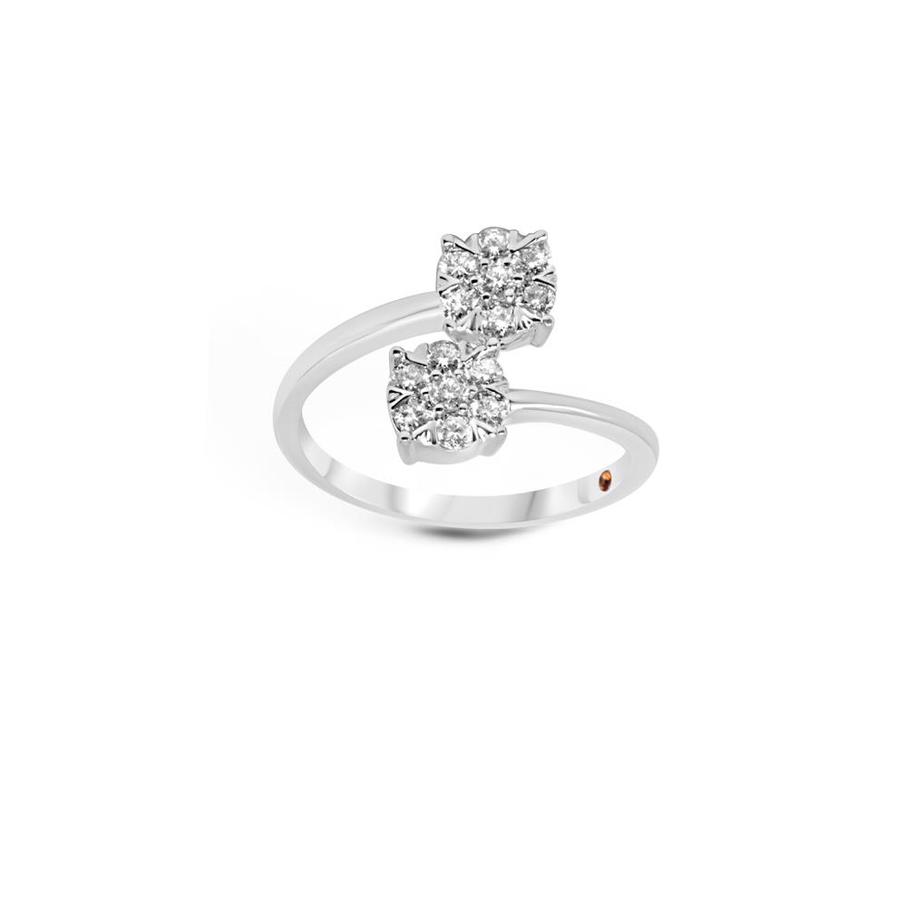 White gold ring with 0.51 ct diamonds, invisible setting