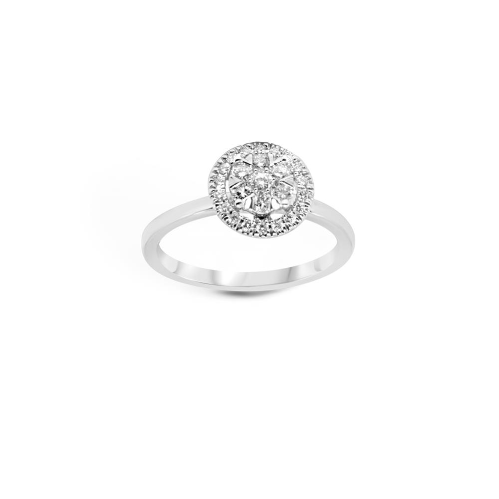 White gold ring with 0.70 ct diamonds, invisible setting Available in different weighing in carats