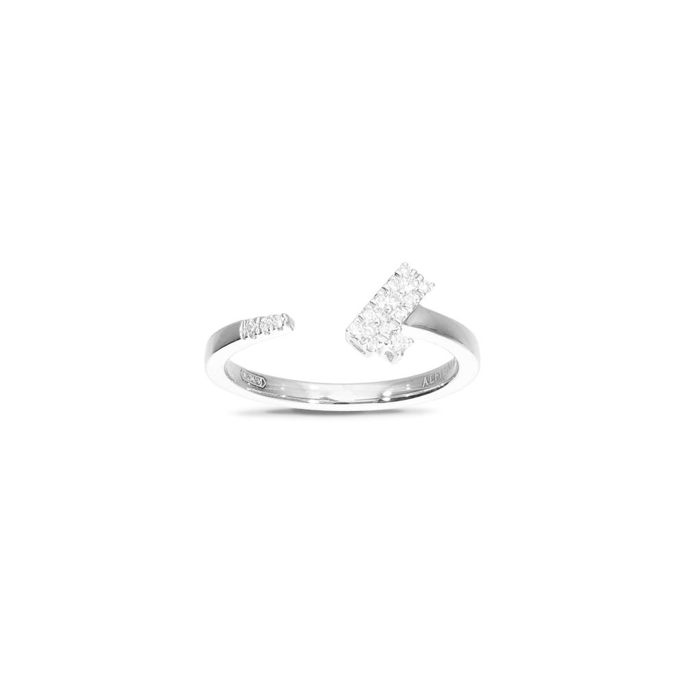 White gold ring with diamonds 0,12 ct