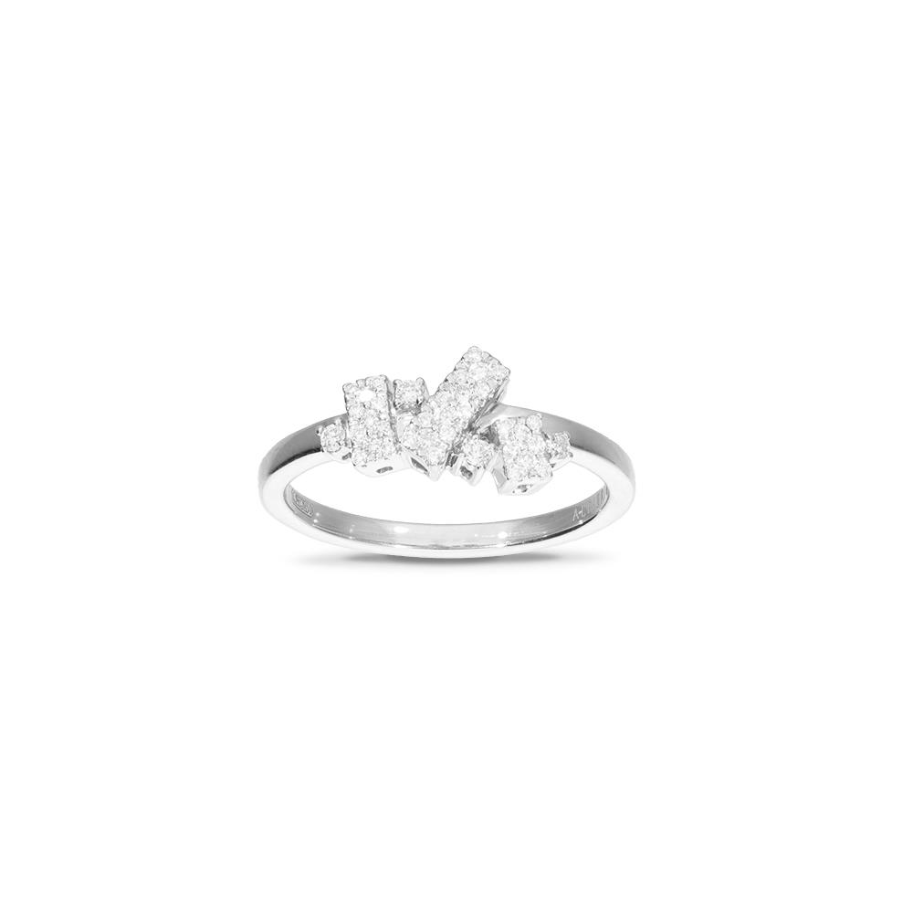 White gold ring with diamonds 0,20 ct