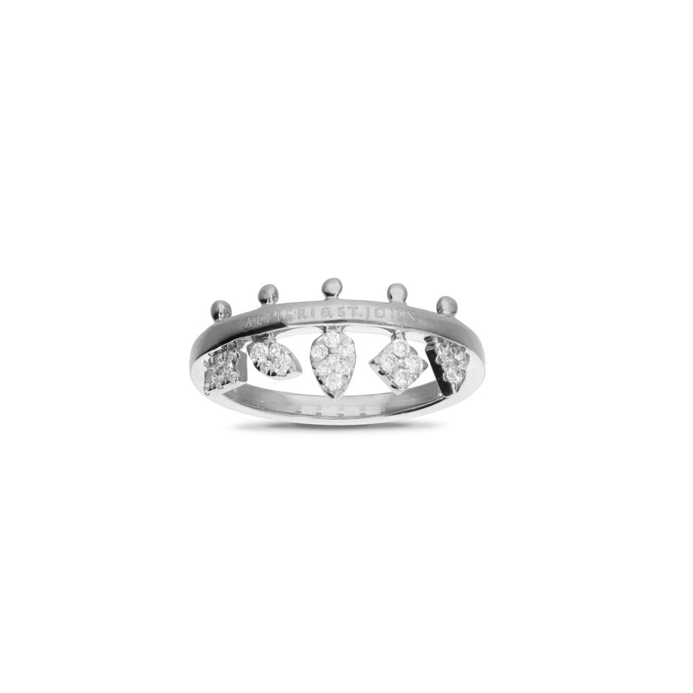 White gold ring with diamonds 0,25 ct